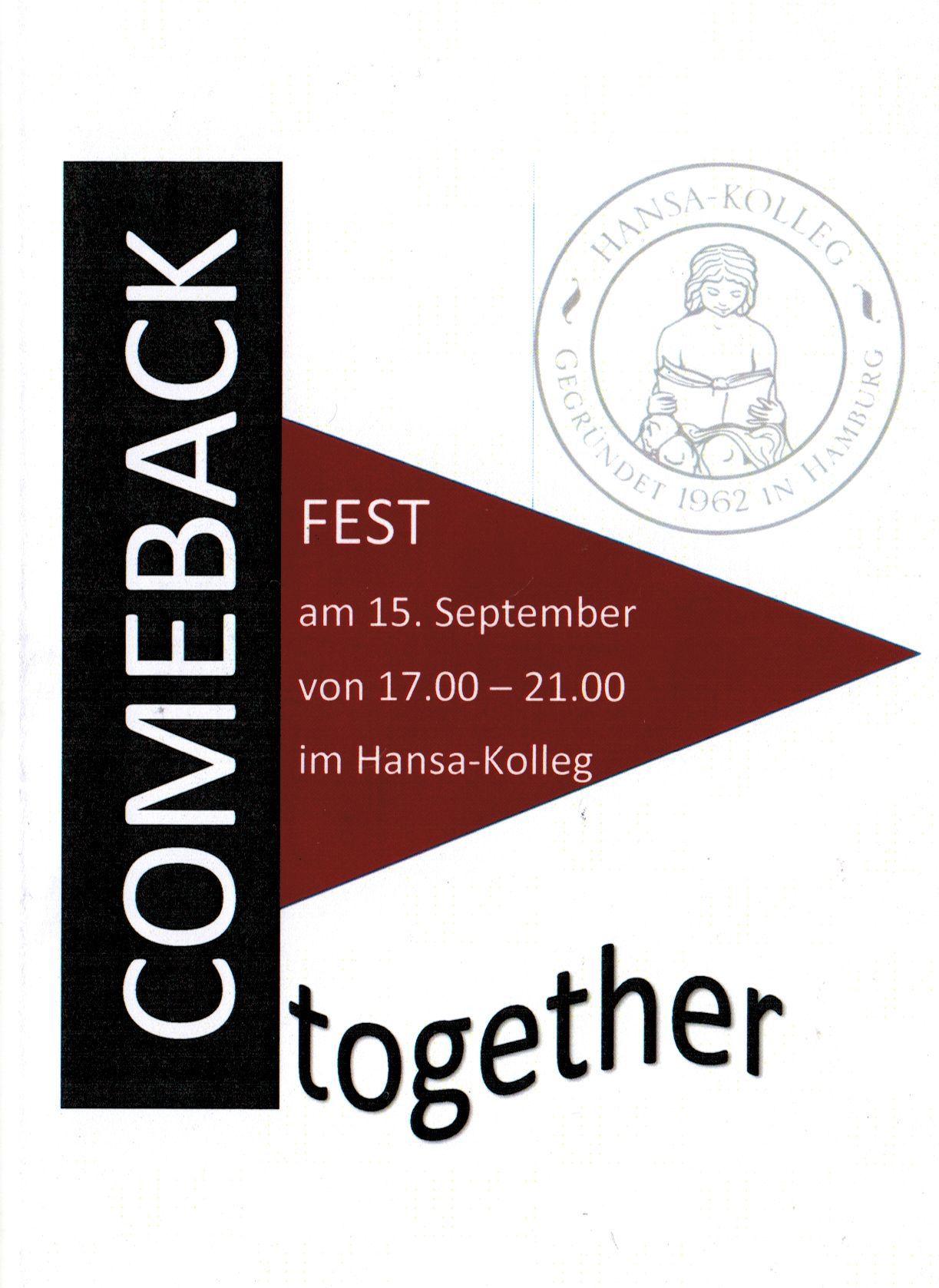 """Bild für Unser """"Comeback – come together"""" am 15. Sept. 2018"""